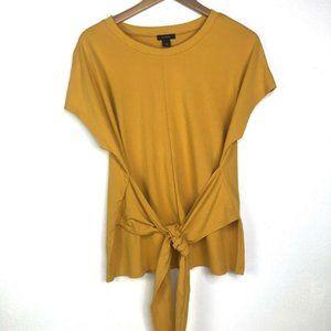 Halogen Mustard Yellow Top with Tie Front